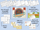 Fractions Worksheets and Printable Activities for Third Grade