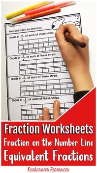 Fractions Worksheets :Equivalent Fractions,Fractions on the number