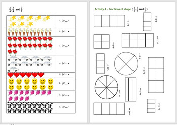 Fractions Year 2 Activity Bank (Differentiated)