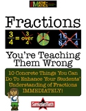 Fractions: You're Teaching Them Wrong : 15+  Concrete Reco