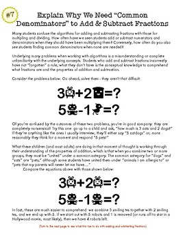 Fractions: You're Teaching Them Wrong : 15+  Concrete Recommendations