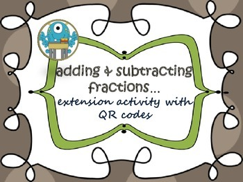 Fractions {add/subtract--Common Core}