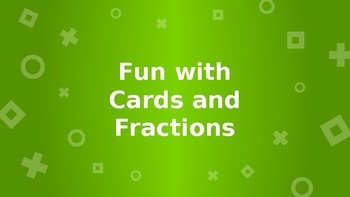 Fractions and Cards Math game