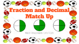 Fractions and Decimal Match Up Cards