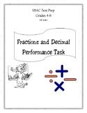 Fractions and Decimal SBAC Prep Grades 4-6