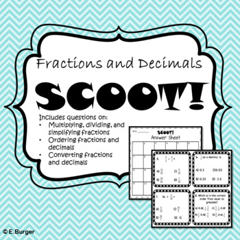 Fractions and Decimal Scoot! (or Task Cards)
