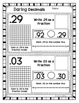 Fractions and Decimals Activities and Printables