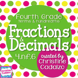 Fractions and Decimals to Tenths and Hundredths Math Unit 4.NF.6