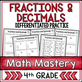 Fractions and Decimals Worksheets