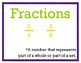 Fractions and Decimals 4th Grade My Math Vocabulary Posters