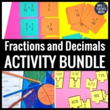 Fractions and Decimals Activity Bundle