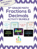 Fractions and Decimals Activity Bundle for 6th Grade Math (6.NS.1-6.NS.4)