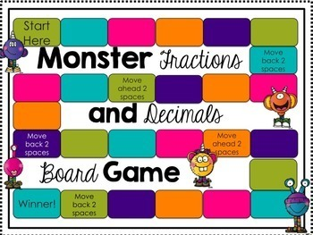 Fractions and Decimals Board Game {5th Grade Common Core Aligned}