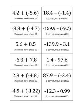 Fractions and Decimals Board Game Bundle (Negative Number Edition)