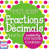 Fourth Grade Fractions and Decimals Lesson Plan Bundle