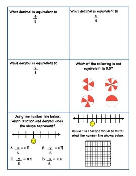 Fractions and Decimals COMPLETE Review Packet (VA SOL 5.2)