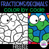 Fractions and Decimals Color by Code FREEBIE (Earth Day)
