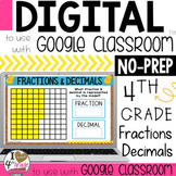 Fractions and Decimals Digital Lesson to use with Google Classroom