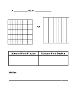 Fractions and Decimals Equivalency Sheet