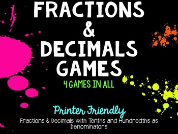 Fractions and Decimals Games
