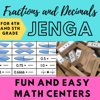 Fractions and Decimals Jenga!