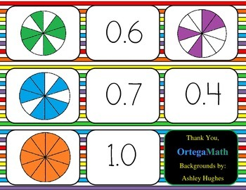 Fractions and Decimals Matching Game