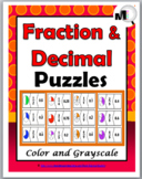 Fractions and Decimals Puzzles - Fraction Activities - Fra