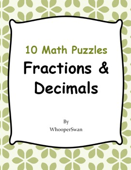 Fractions and Decimals Puzzles