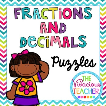 Fractions and Decimals Math Puzzles