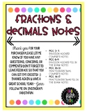 Fractions and Decimals Notes