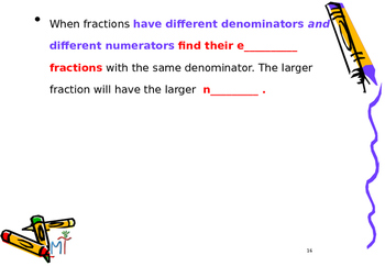 Fractions and Decimals Power Point