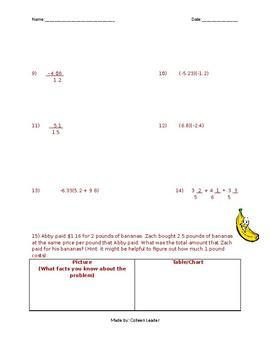 Fractions and Decimals Practice Test