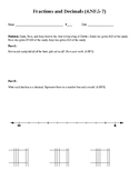 Fractions and Decimals Project