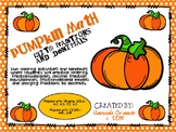 Fractions and Decimals Pumpkin Math