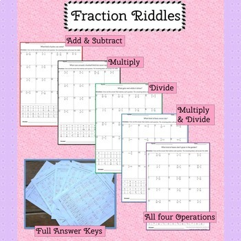 Math  Riddles Bundle: Fractions and Decimals