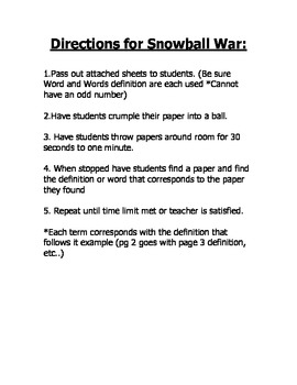 Fractions and Decimals Snowball Game