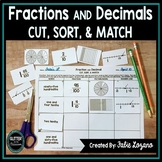 Fractions and Decimals Sort-Tenths & Hundredths-Relate Fractions to Decimals