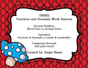 Fractions and Decimals - Three Stations