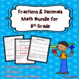 Fractions and Decimals Unit Bundle for 6th Grade Math