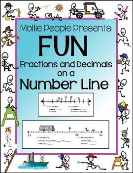 Fractions and Decimals on a Number Line:  A Crazy Fun Way to Practice!