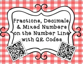 Fractions and Decimals on the Number Line File Folder Game