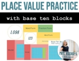 Fractions and Decimals with Base Ten Blocks - Editable, In