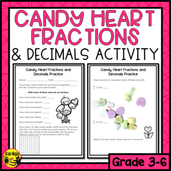 Fractions and Decimals with Candy Hearts