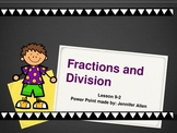 Fractions and Division (5th Grade EnVision Math) Power Point