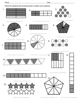 Fractions and Equivalent Fractions: A Graphical Illustration
