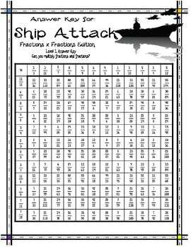Fractions and Fractions Ship Attack