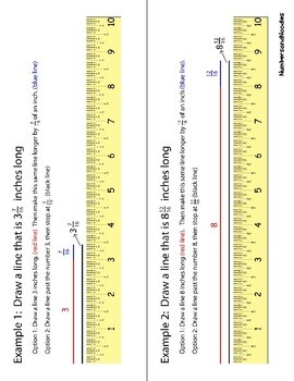 Fractions And Measuring With A Printable Ruler Template