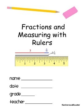 Fractions and Measuring with a printable ruler + Template