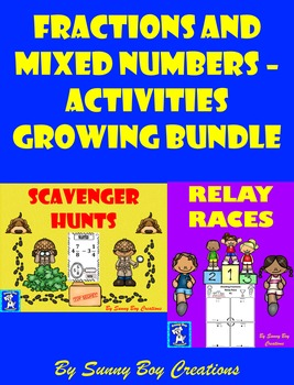 Fractions and Mixed Numbers - Activities Growing Bundle