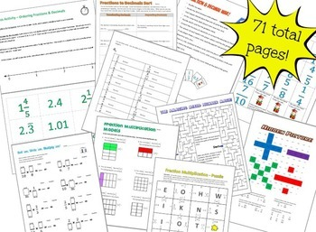 Fractions and Mixed Numbers Bundle - 17 items and 71 pages!